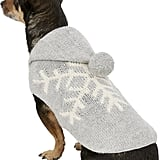 Alpaca Grey Snowflake Dog Sweater
