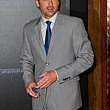 Patrick Dempsey showing off Transformers: Dark of the Moon in Paris.
