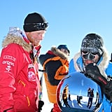 Prince Harry had snow on his face when he reached the South Pole as part of the Walking With the Wounded charity trek in December 2013.