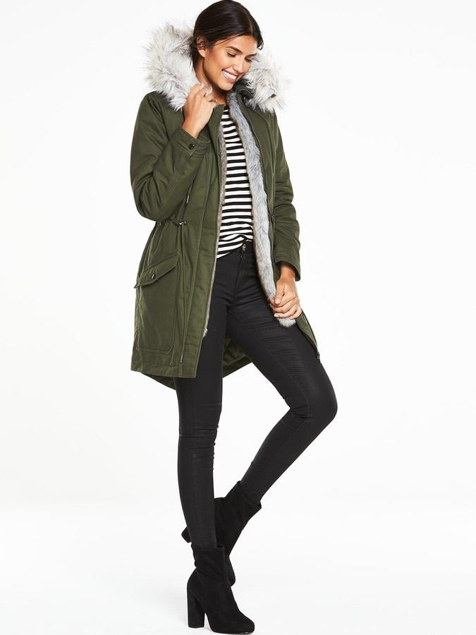 Very 3 In 1 Canvas Parka With Faux Fur Trim