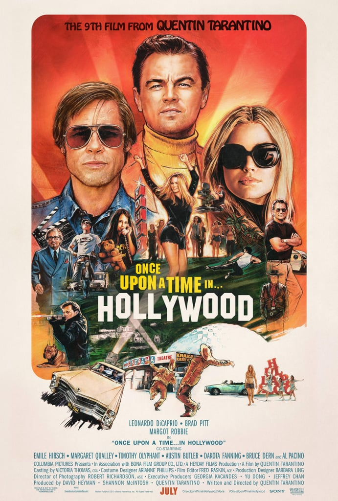 No one can ever say that Quentin Tarantino isn't a stickler for a theme. The director's ninth film, Once Upon a Time in Hollywood, is set in 1969, centered around Charles Manson's cult, the shocking murder of Sharon Tate, and its aftershock in Hollywood and the film industry. And so, in keeping with the decade of the story, all the film's posters are appropriately retro.  From artistic renderings of Leonardo DiCaprio's struggling actor character, Rick Dalton, to an ensemble poster featuring pretty much the entire cast — DiCaprio, Brad Pitt, Margot Robbie, Al Pacino, and more — nearly every single one deserves to be framed. Ahead, check out all of the posters, and then see  what you can expect from Once Upon a Time in Hollywood when it arrives in theaters on July 26.      Related:                                                                                                           Here's Everything We Know About the Plot of Quentin Tarantino's Once Upon a Time in Hollywood