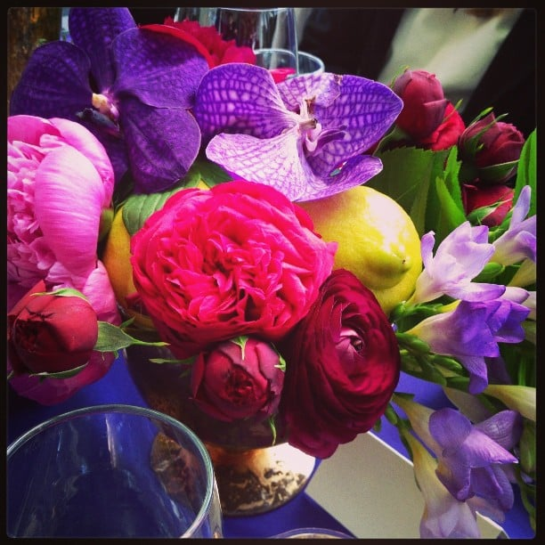 Bright flowers greeted us at an Anna Sui fragrance event.