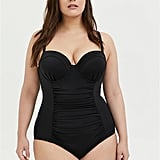 Torrid Black Lattice Back One-Piece Swimsuit