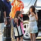 Suri Cruise readjusted her bag.