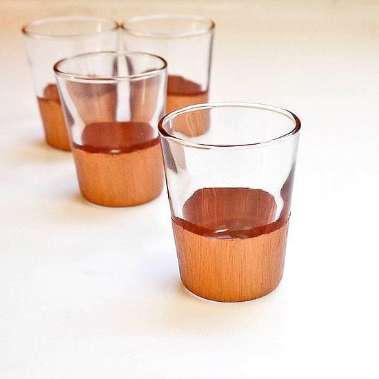 DIY Copper-Dipped Shot Glasses