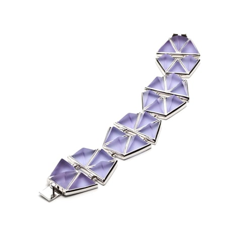 """In case you haven't noticed, I am an Eddie Borgo junkie. His latest gemstone tile design bracelet is perfect for stacking, and I adore the refreshing light lavender and silver color combination."" — Chi Diem Chau, associate editor  Eddie Borgo Gemstone Tile Bracelet ($580)"