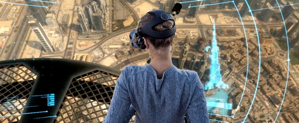 Virtual Reality Climb and Parachute Jump From Burj Khalifa