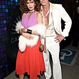 Cindy Crawford and Rande Gerber as a Disco Couple
