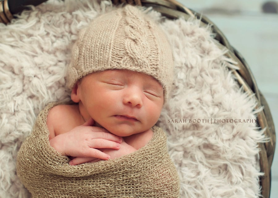 Cable Knit Baby Hat