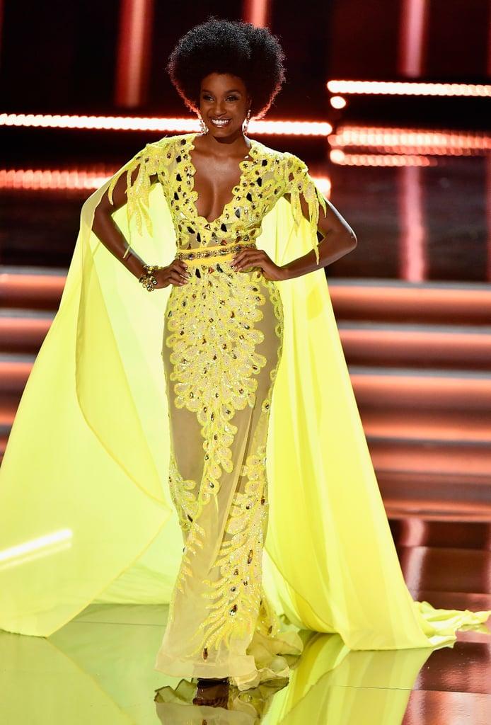 Miss Jamaica Davina Bennett Wears Afro at Miss Universe 2017
