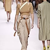 Gigi Strutting It in Neutrals at Fendi