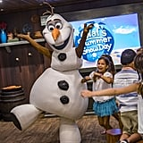 "In a separate part of the Oceaneer club is the Frozen Adventures for interactive fun with Elsa and the gang. Some of the Winter-themed events including Olaf leading a sing-a-long of ""In Summer"" and the chance to prepare for the royal coronation with Anna and Elsa."