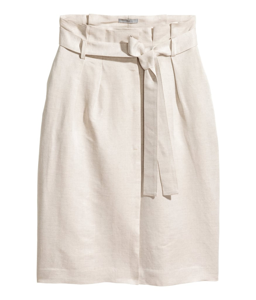 A linen blend skirt from H&M ($50) ensures you won't overheat on your commute to the office.