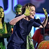 Kristen Stewart had a laugh on stage at the Kids' Choice Awards.