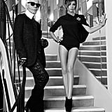 Victoria Beckham posed with Karl Lagerfeld for Elle France. Source: Twitter user victoriabeckham