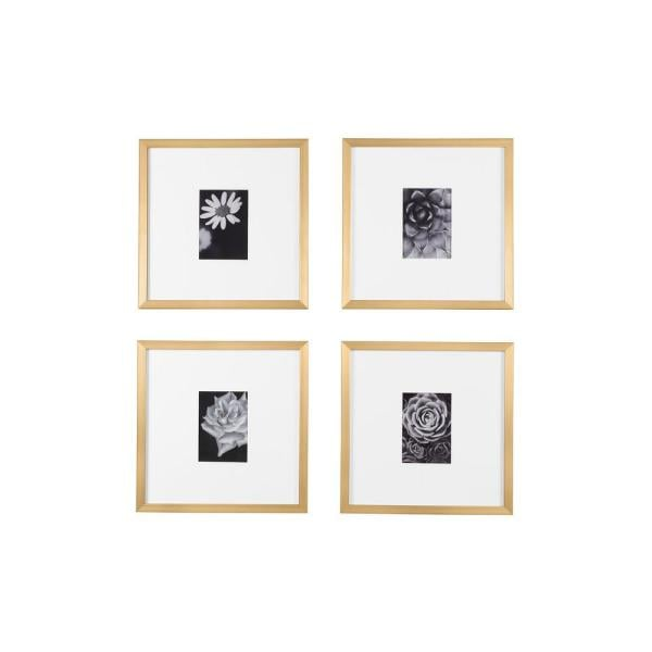 StyleWell Gold Frame With White Matte Gallery Wall Picture Frames