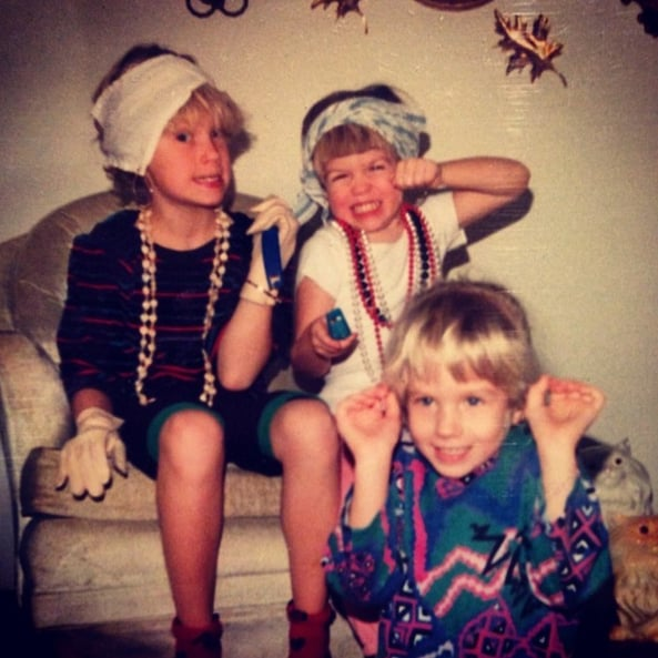 """""""Acting in one of our many theatrical productions, I'm surprised you all didn't see it, the reviews were exceptional. I played the evil fortune teller with the magic shell necklaces. #obviously #tbt"""""""