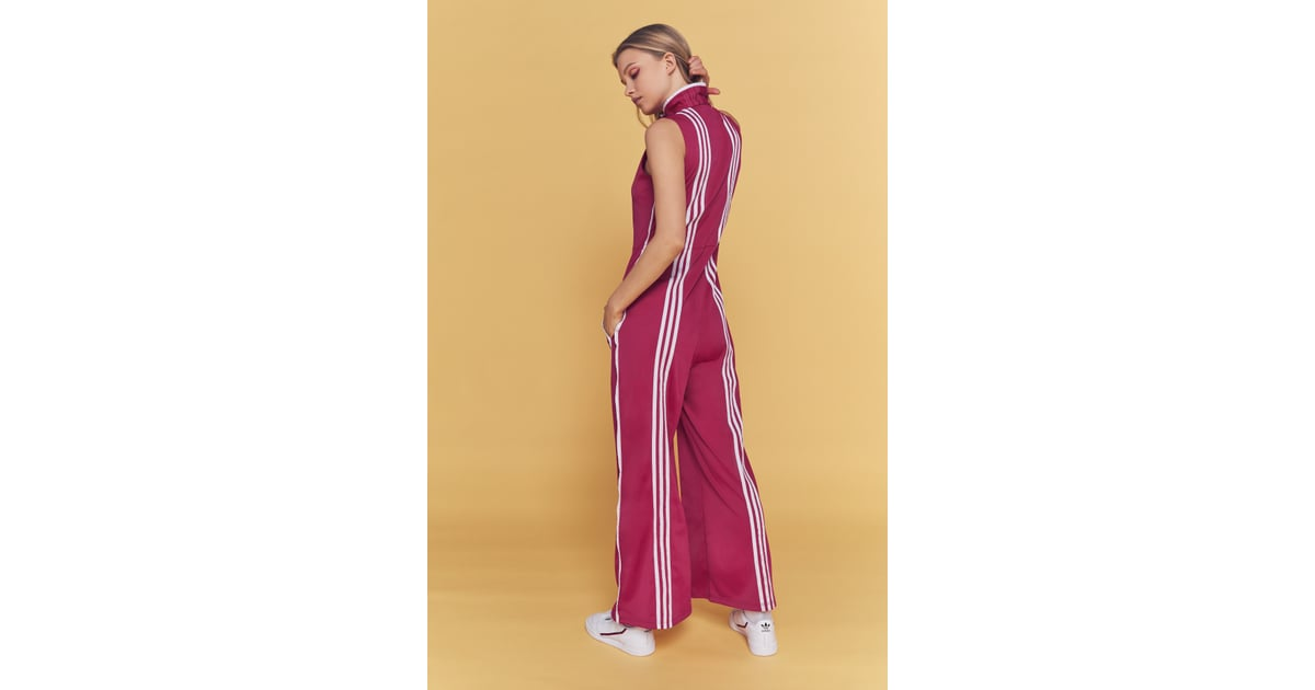 check out 74b53 a92d9 Adidas Originals By Ji Won Choi 3-Stripe Snap Button Jumpsuit   Adidas x Ji  Won Choi at Urban Outfitters   POPSUGAR Fashion Photo 6
