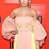 Taylor Swift Wearing a Pink and Yellow Dress at the 2019 Time 100 Gala