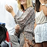 Brooklyn Decker in the US Open stands.