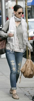 Katie Holmes Leaving NYC Apartment