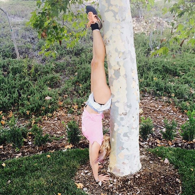 A little handstand practice for Britney.