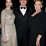 Anne Hathaway, Julie Andrews and Prince Albert caught up at a party in NYC.