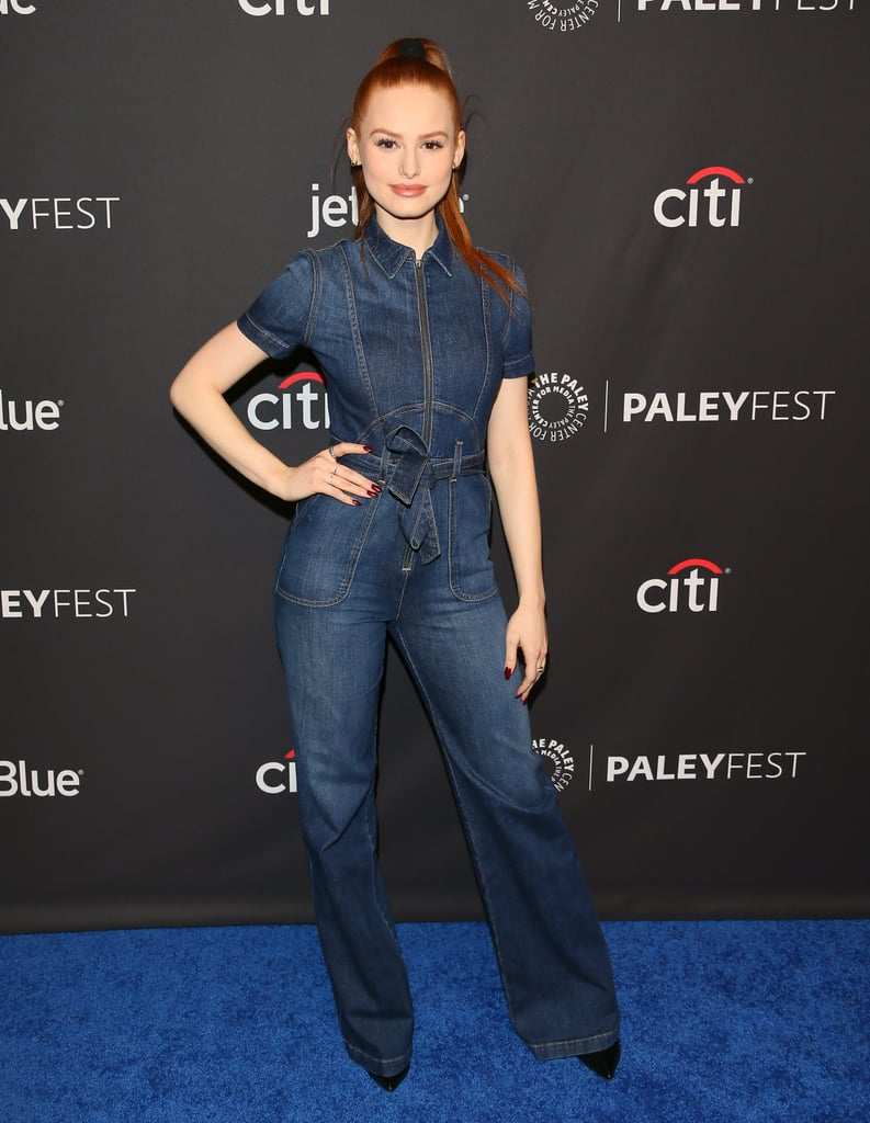 Wearing a '70s-inspired jumpsuit at PaleyFest in 2018.