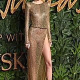 Our eyebrows hit the ceiling when Kendall showed up to the Fashion Awards in London wearing this naked dress by Julien Macdonald. If you thought it was daring from the front, just wait till you admire it from behind.