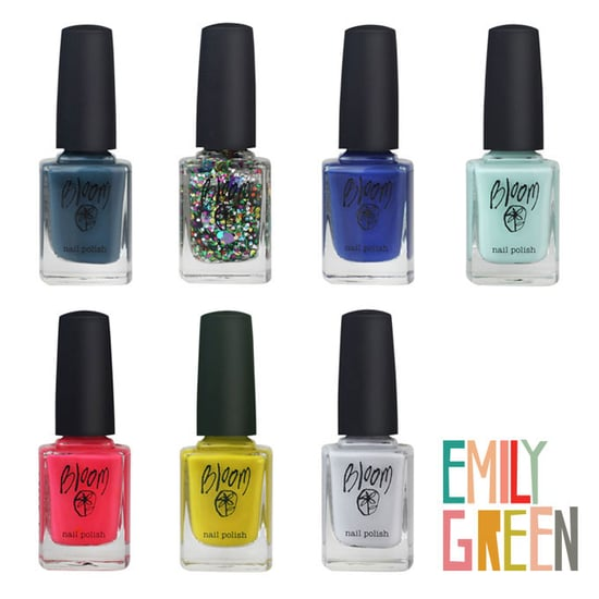 Bloom Cosmetics and Emily Green Nail Polish Collection