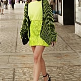 We're kind of obsessed with this perfect high-impact take on neon.