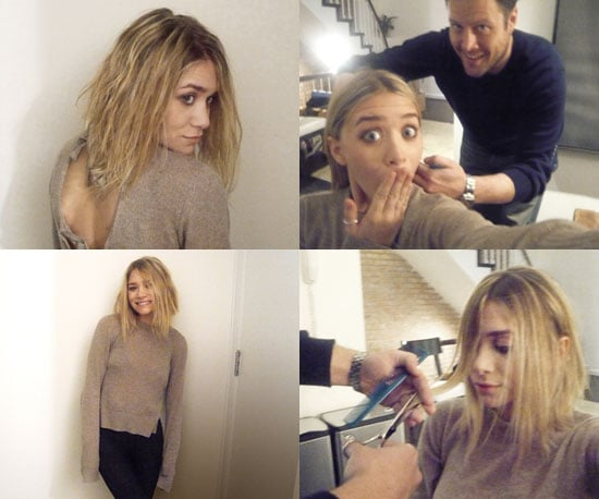 Photos of Ashley Olsen Getting Her Hair Cut for June's Marie Claire