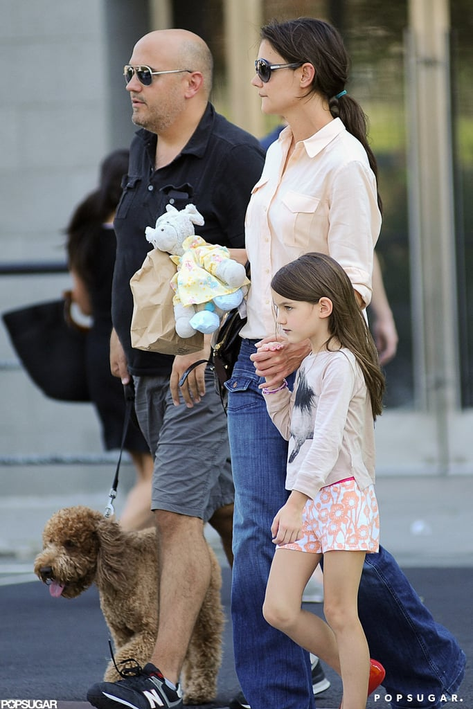 Katie and Suri Hit the Town With a New Furry Friend