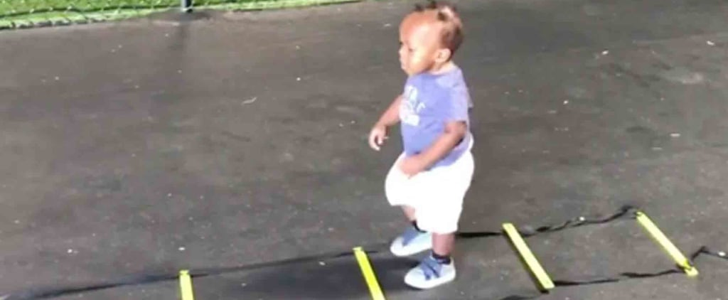 Video of a Baby Working Out With His Dad