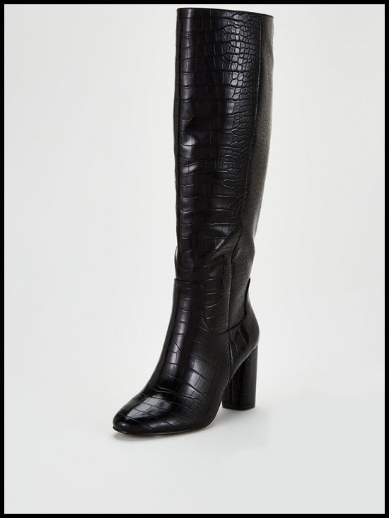 V by Very Taylor Straight Leg Knee Boots