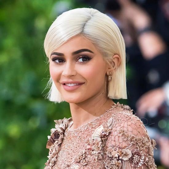 Kylie Jenner Wears a Maroon Wig