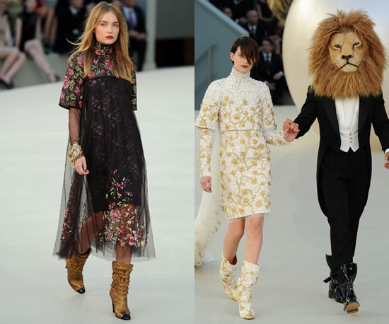 Photos of the 2010 Chanel Autumn Haute Couture Collection in Paris with Lion Theme