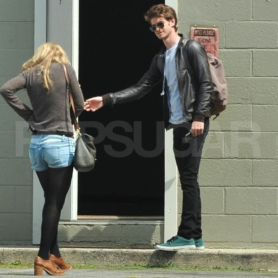 Andrew Garfield Gets to Work While in LA With Emma Stone