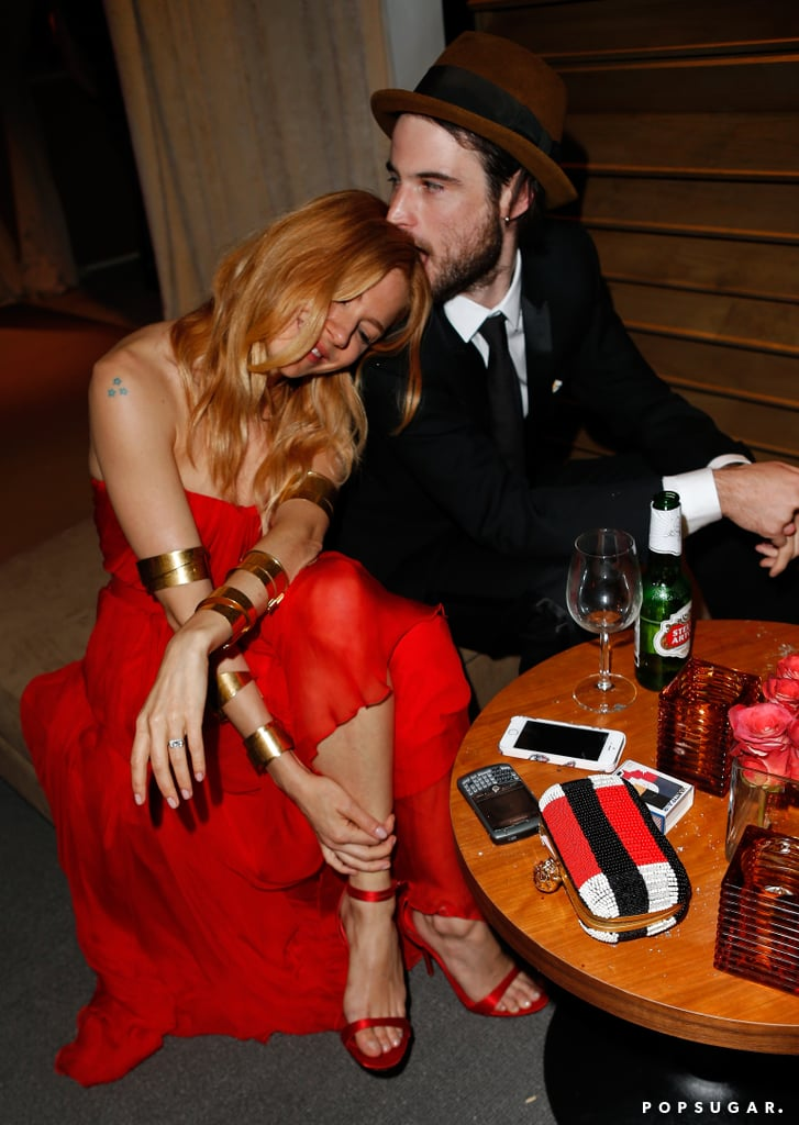 Tom Sturridge took a bite out of Sienna Miller.