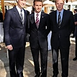 Prince William, David Beckham, and Prince Harry