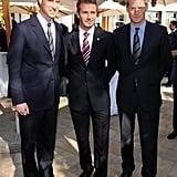 Prince William, David Beckham, and Prince Harry