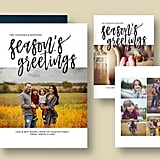 Season's Greetings Christmas Card from Etsy ($8 template)