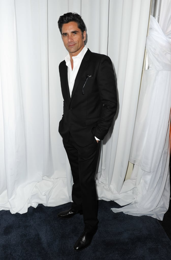 John Stamos looked dapper. Have mercy!