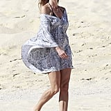 Cindy Crawford took a walk in Cabo.