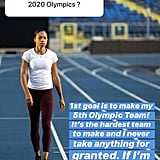 Allyson's Goals For the 2020 Olympics