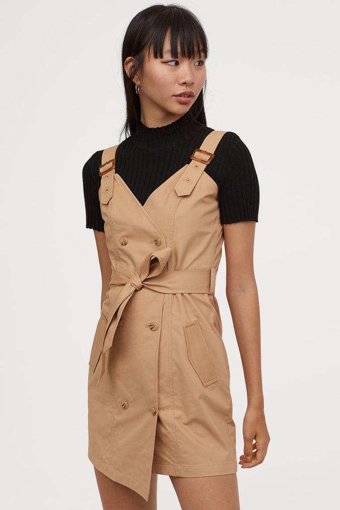 H&M Cotton Bib Overall Dress