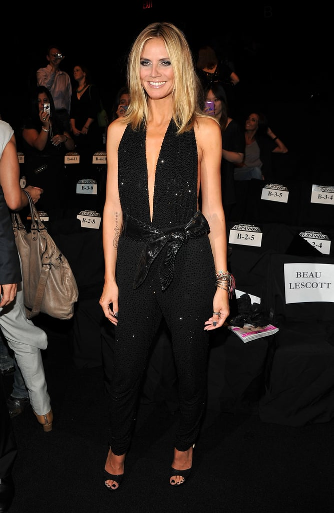 Heidi Klum in NYC at the Project Runway fashion show.