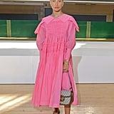 Adwoa Aboah at the Molly Goddard London Fashion Week Show