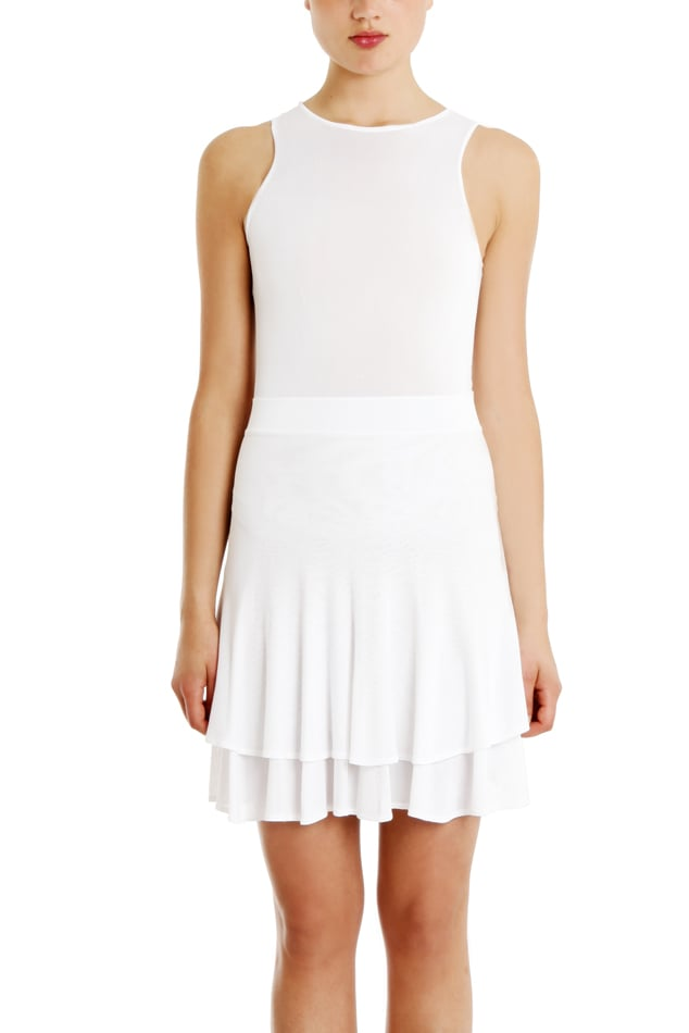 Every girl needs a little white dress in her closet, so if you don't yet own one, we recommend A.L.C.'s white Lena dress ($287, originally $575). The sporty bodice juxtaposes with the girlie tiered skirt perfectly.