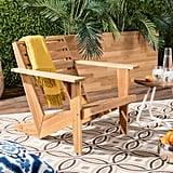 Safavieh Lanty Natural Brown Wood Adirondack Chair